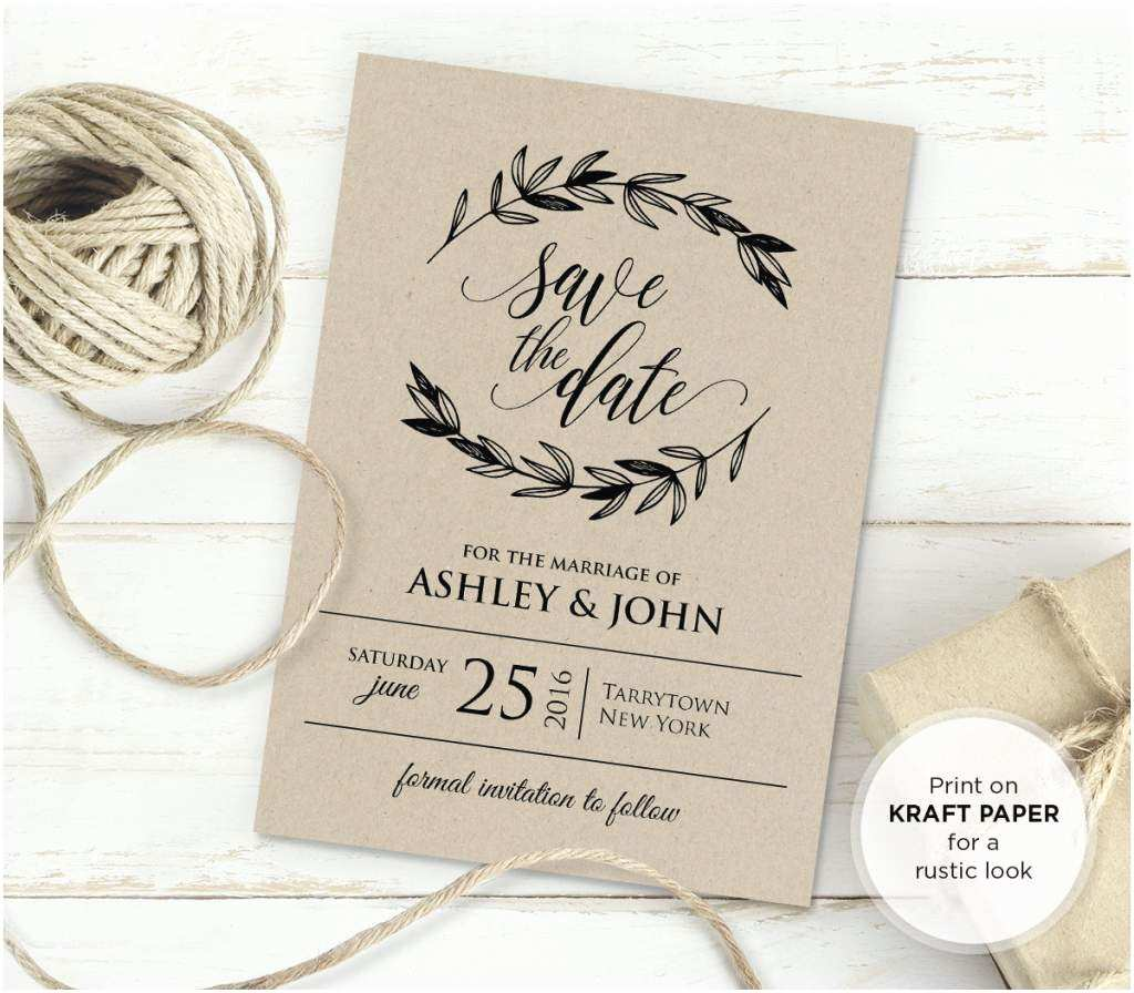 Wedding Invitation Templates Rustic Wedding Invitation Templates