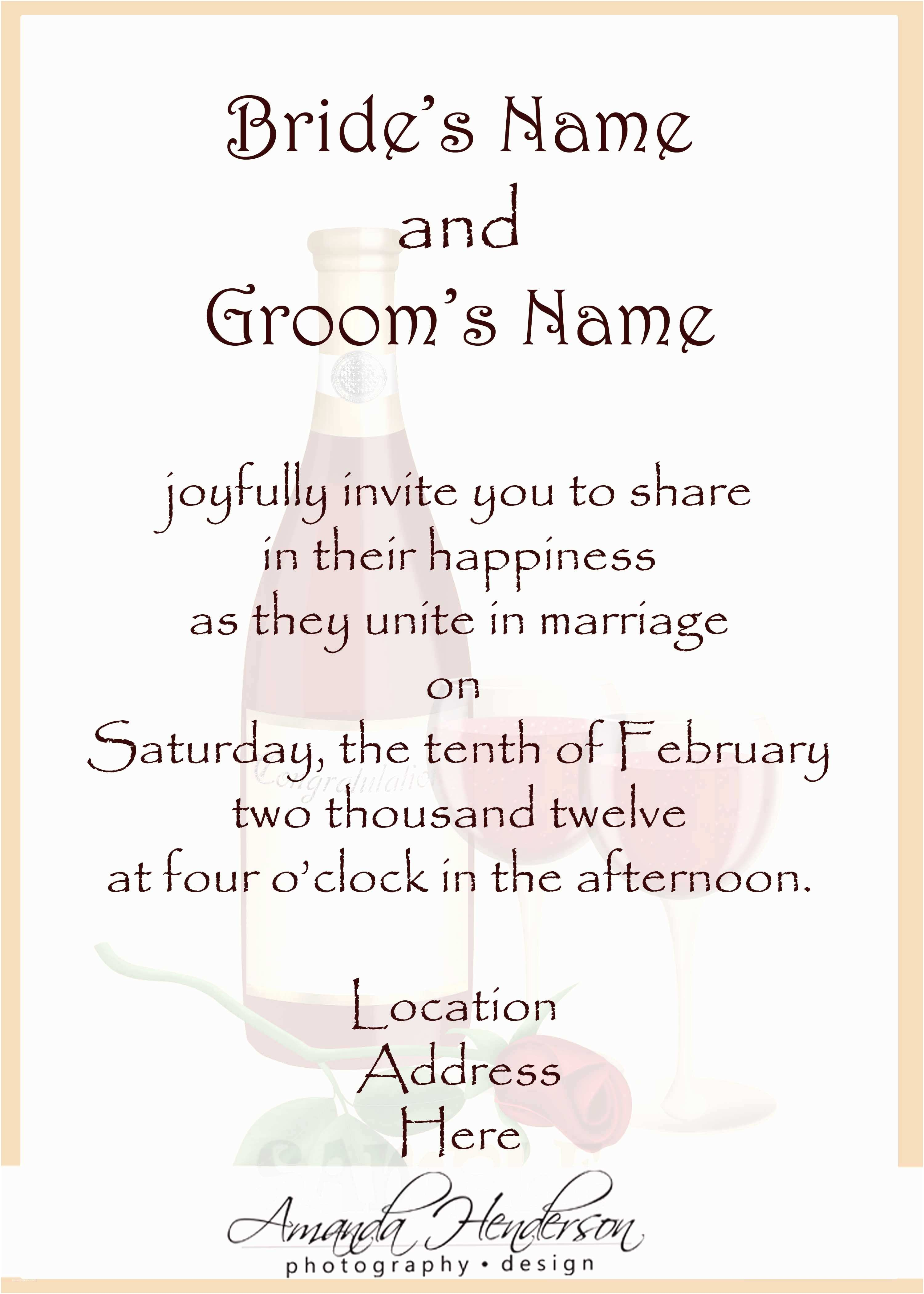 Wedding Invitation Templates Wedding Invitation Wording Samples