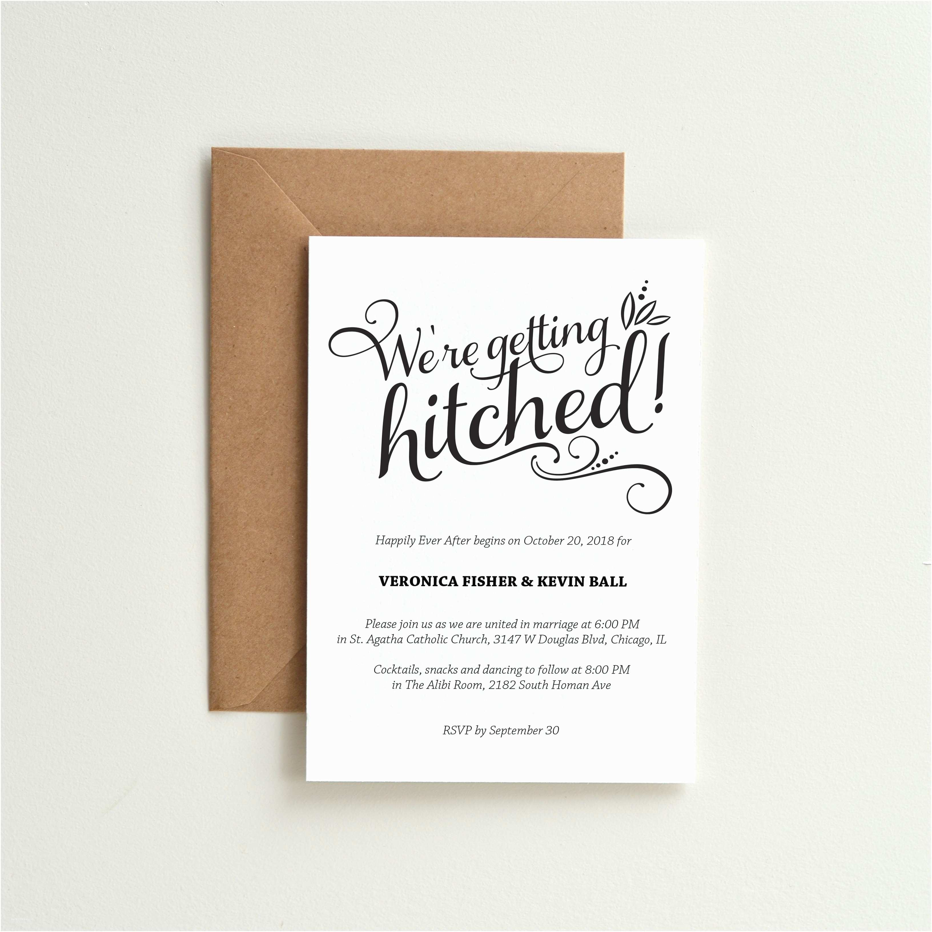 Wedding Invitation Time 13 Funny Wedding Invitations Perfect for Every Sense Of