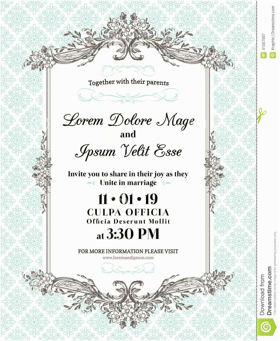 Wedding Invitation Time 96 Blank Vintage Wedding Invitation Templates Free