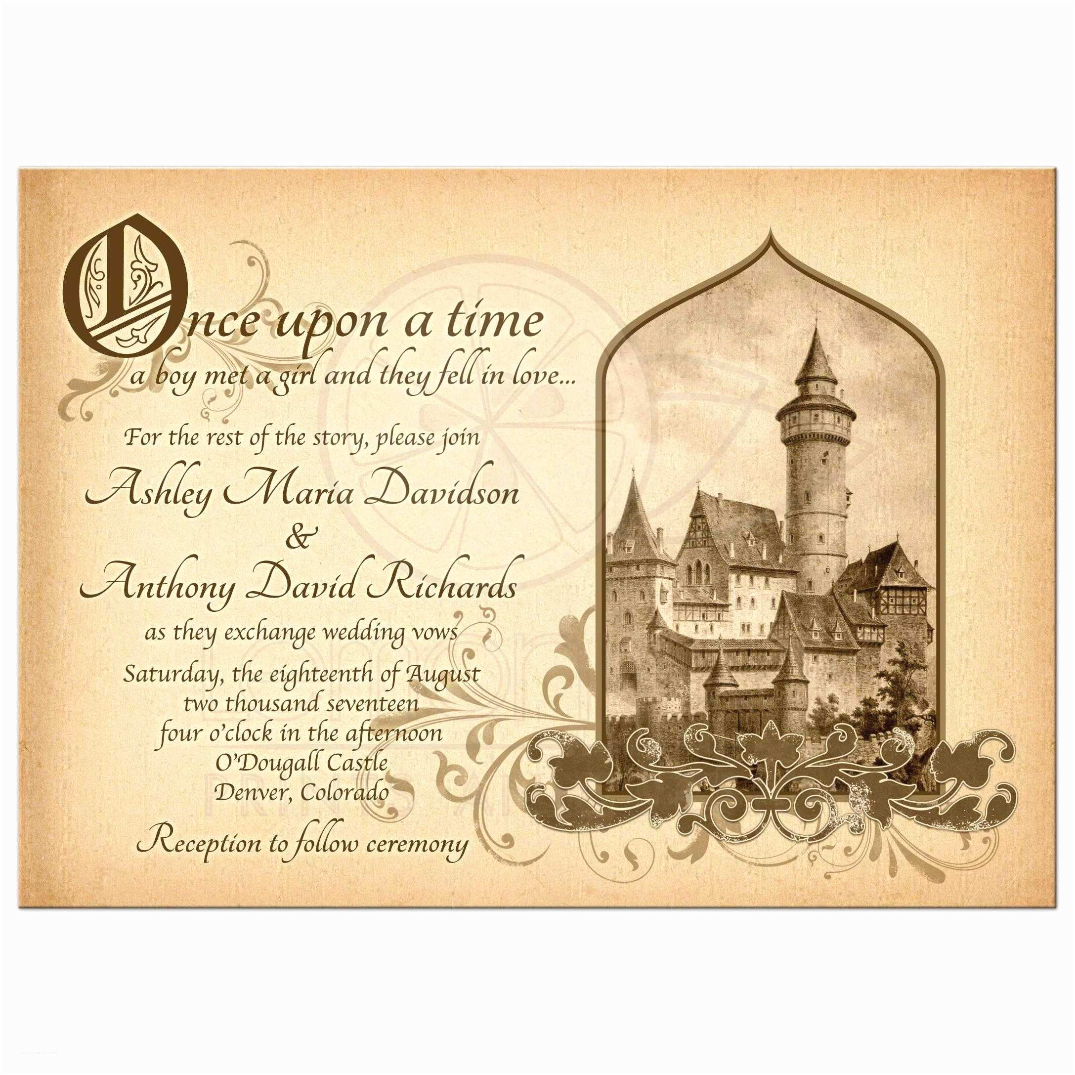Wedding Invitation Time Emejing Ce Upon A Time Wedding Invitations Contemporary