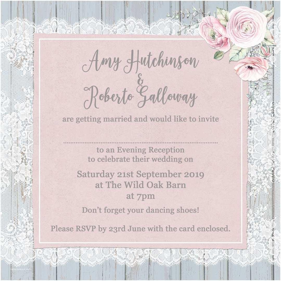 Wedding Invitation Time Invitation Wording evening Image Collections Invitation