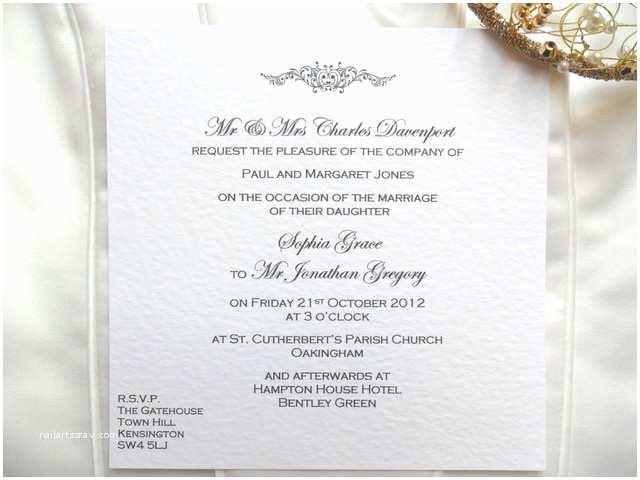 Wedding Invitation Time Wedding Invitation Wording