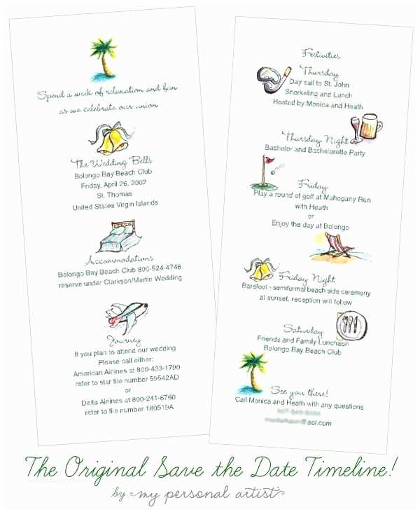 Wedding Invitation Timeline Beachy Adorable Destination Wedding Save the Date
