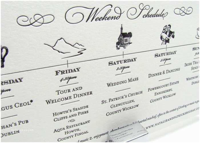Wedding Invitation Timeline Gold Metallic Luxury Wedding Invitations Foil Stamp