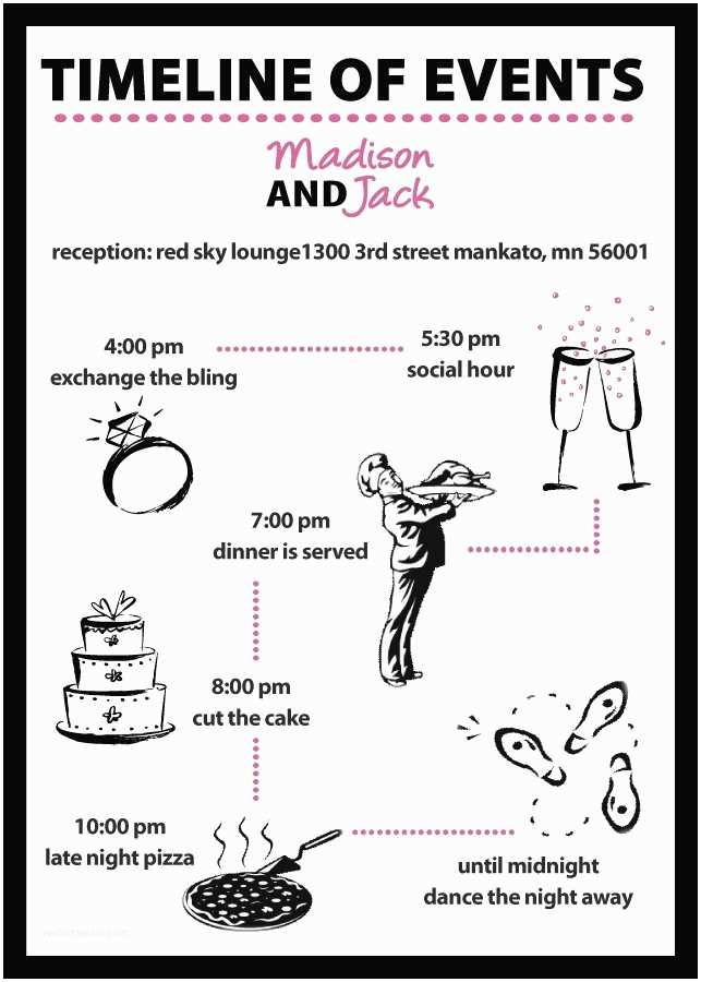 Wedding Invitation Timeline Kaashifa S Blog Read On to Find Out Eight Clever Time