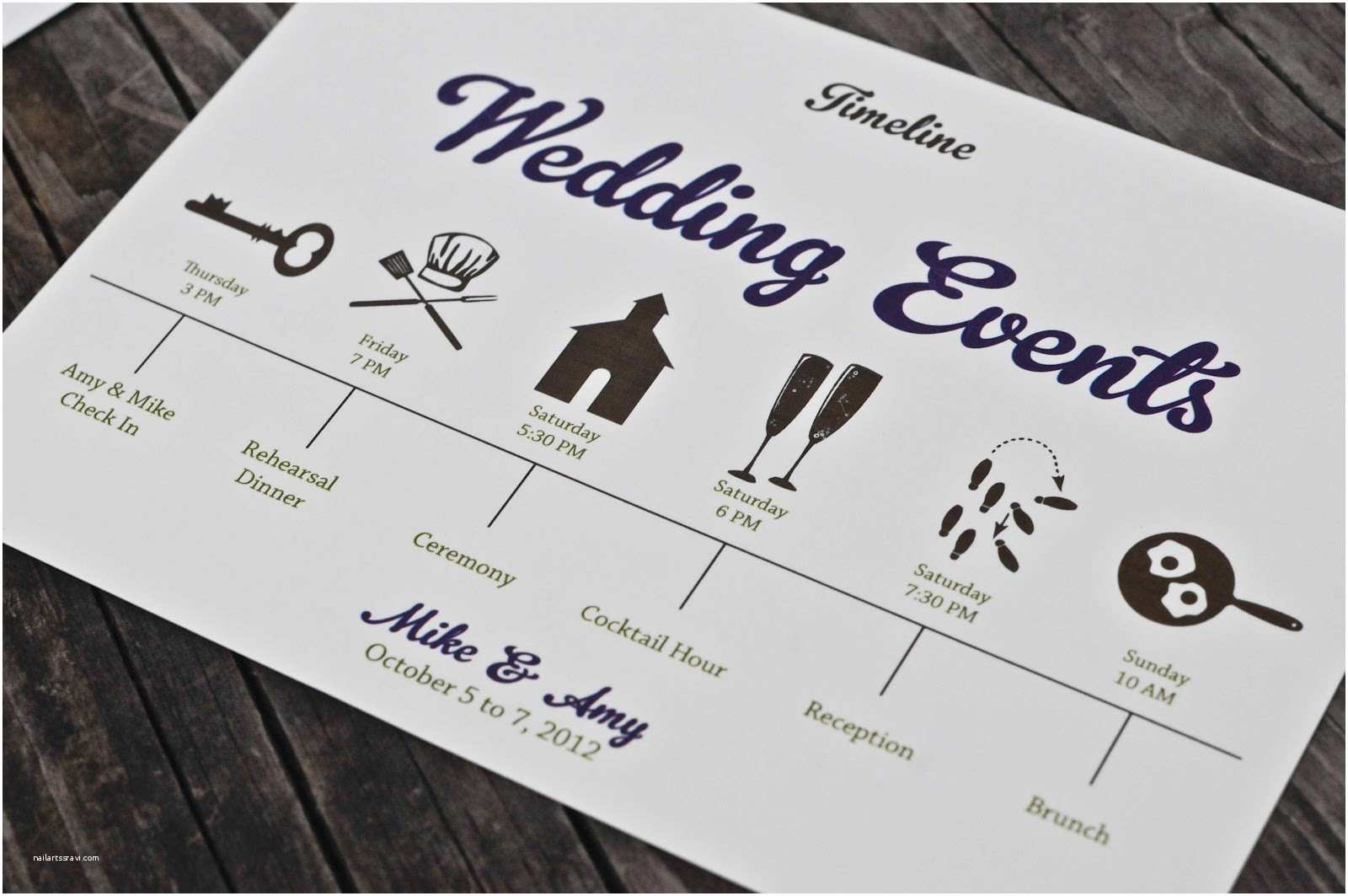 Wedding Invitation Timeline Vivian Elle Invitations Amy and Mike S Wedding Suite