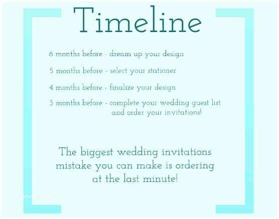 Wedding Invitation Timeline Wedding Invitation Timeline – Gangcraft