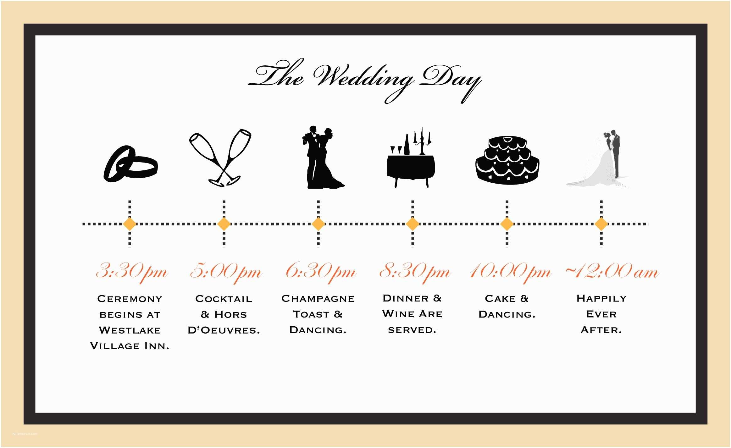 Wedding Invitation Timeline Wedding Timeline Wedding toasts
