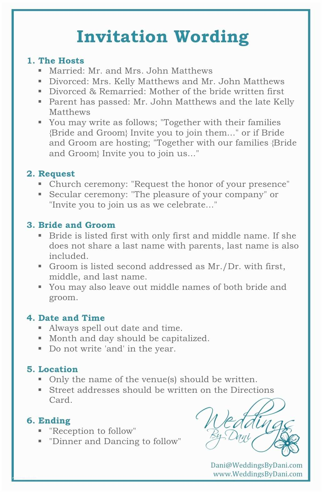 Wedding Invitation Verbiage Wedding Invitation Email Wording