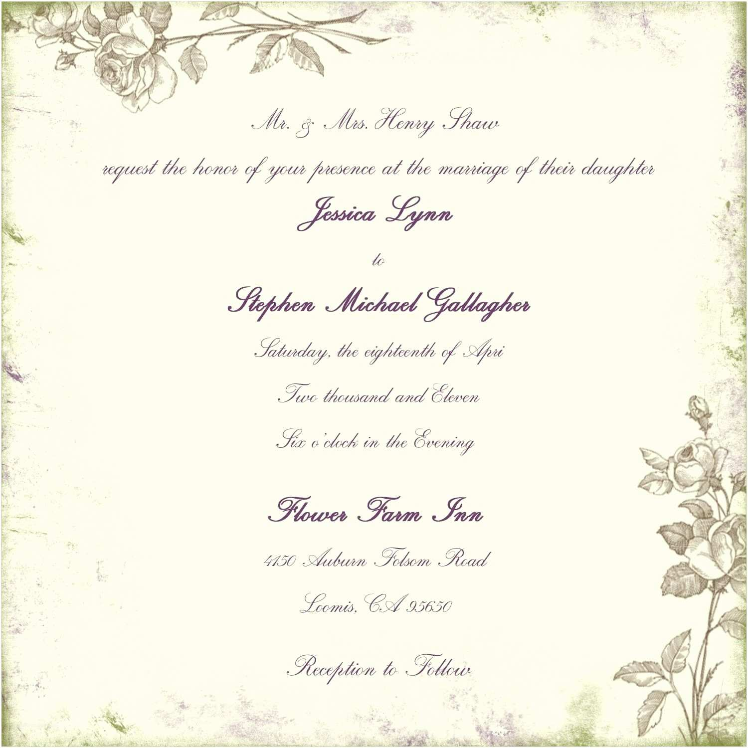 Wedding Invitation Verbiage Wording for Wedding Invitations Marriage Invitation