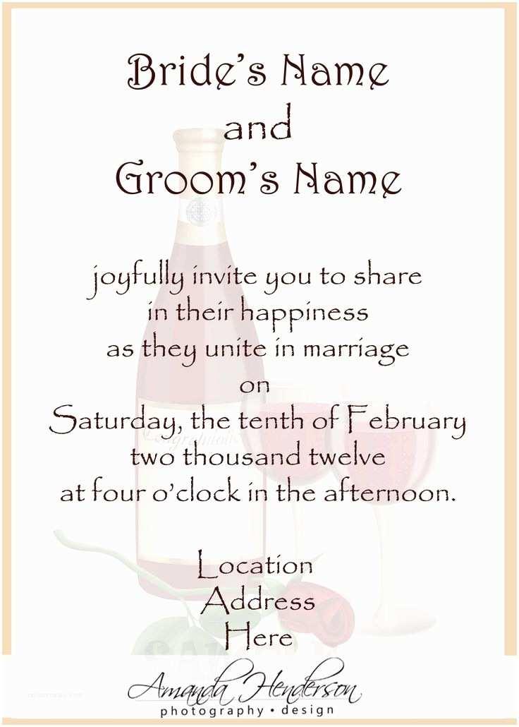 Wedding Invitation Verses 25 Best Ideas About Wedding Invitation Wording On