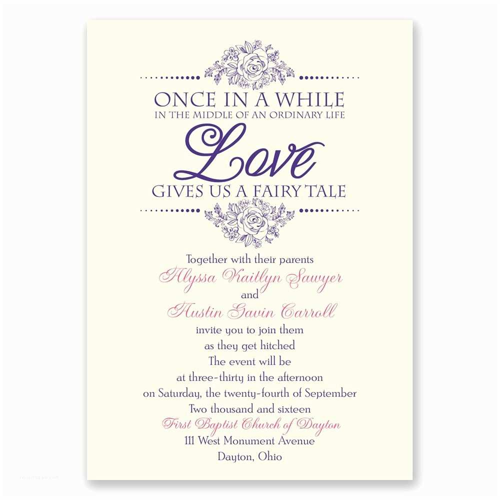 Wedding  Verses Fairy Tale Love