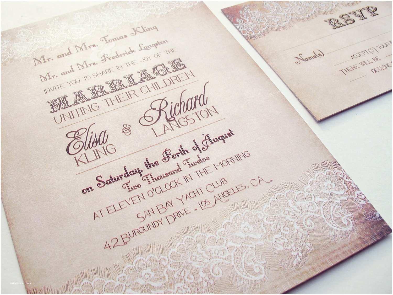 Wedding Invitation Video Country Wedding Invitation Country Lace Wedding Invitation