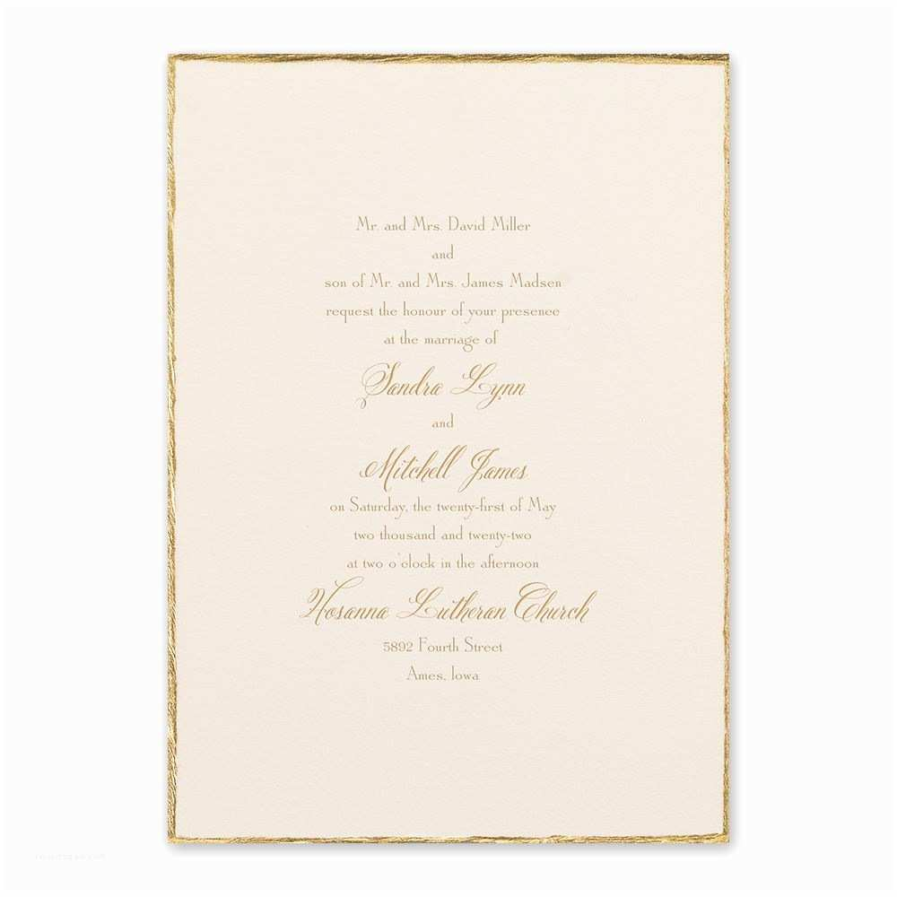 Wedding Invitation Video Gold Trim Invitation