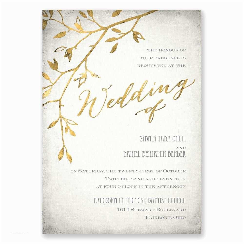 Wedding Invitation Video Leaves Of Gold Invitation
