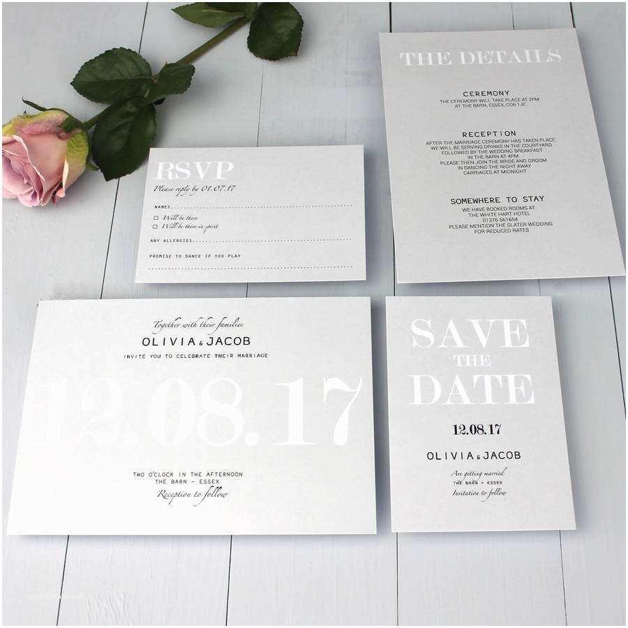 Wedding Invitation Video Modern Traditional Wedding Invitation by Beija Flor Studio