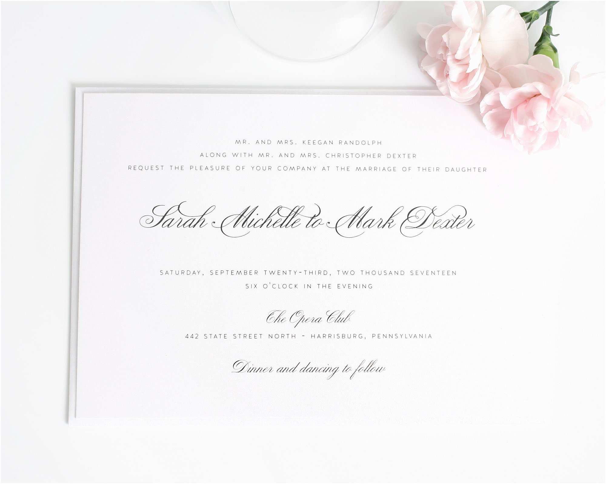 Wedding Invitation Video Traditional Wedding Invitations