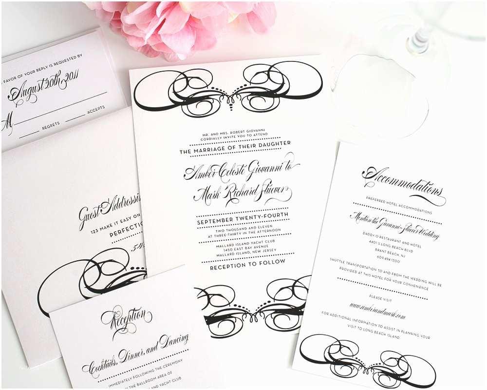 Wedding Invitation Video Unique Wedding Invitations In Black and White – Wedding