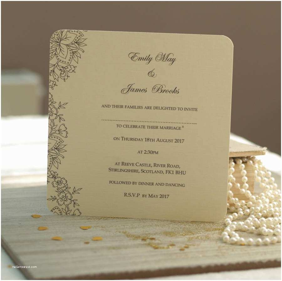 Wedding Invitation Video Vintage Lace Wedding Invitations by Beautiful Day