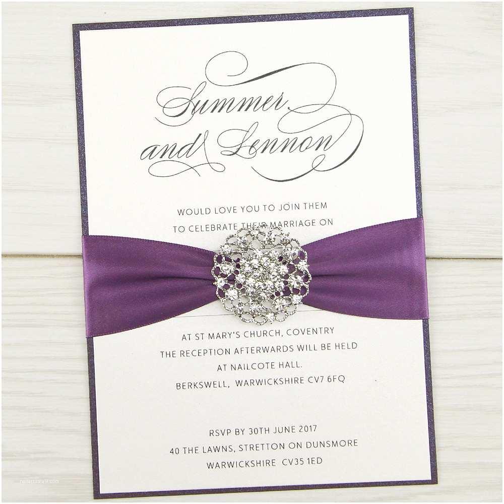 Wedding Invitation Video Violet Parcel