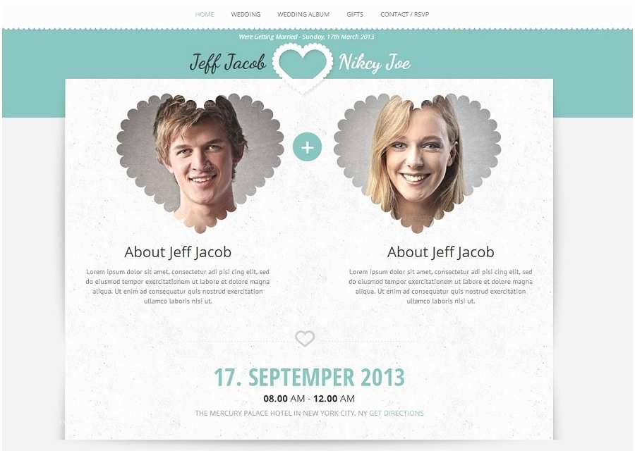 Wedding Invitation Website Beautiful Collection Of Wordpress Wedding themes to Create