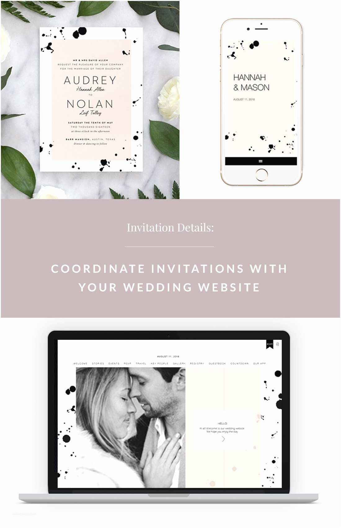 Wedding Invitation Website Coordinate Invitations with Your Wedding Website with Fine
