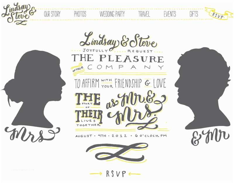 Wedding Invitation Website Lindsay Steve S Hand Lettered Wedding Invitations