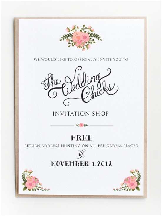 Wedding Invitation Website top Ten Websites that Fer Free Printable Invitations
