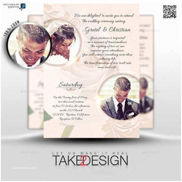 Wedding Invitation With Photo Templates 24 Wedding Invitations – Free Sample