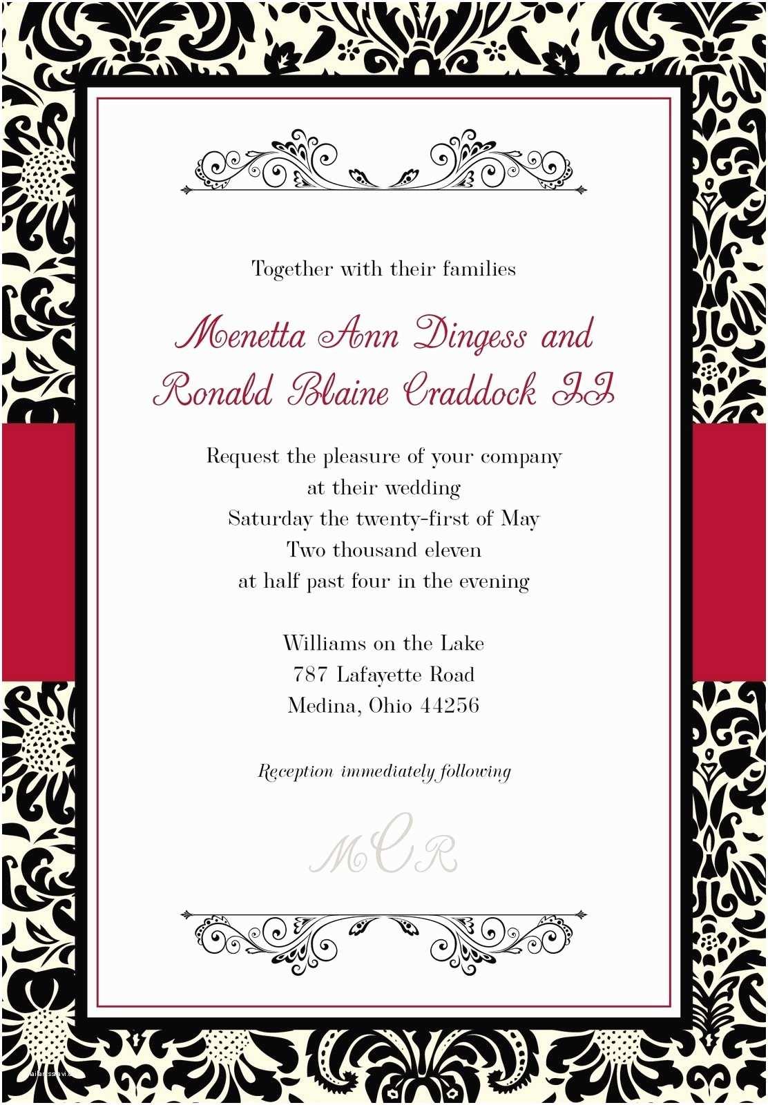 Wedding Invitation With Photo  Black And White Wedding Invitations