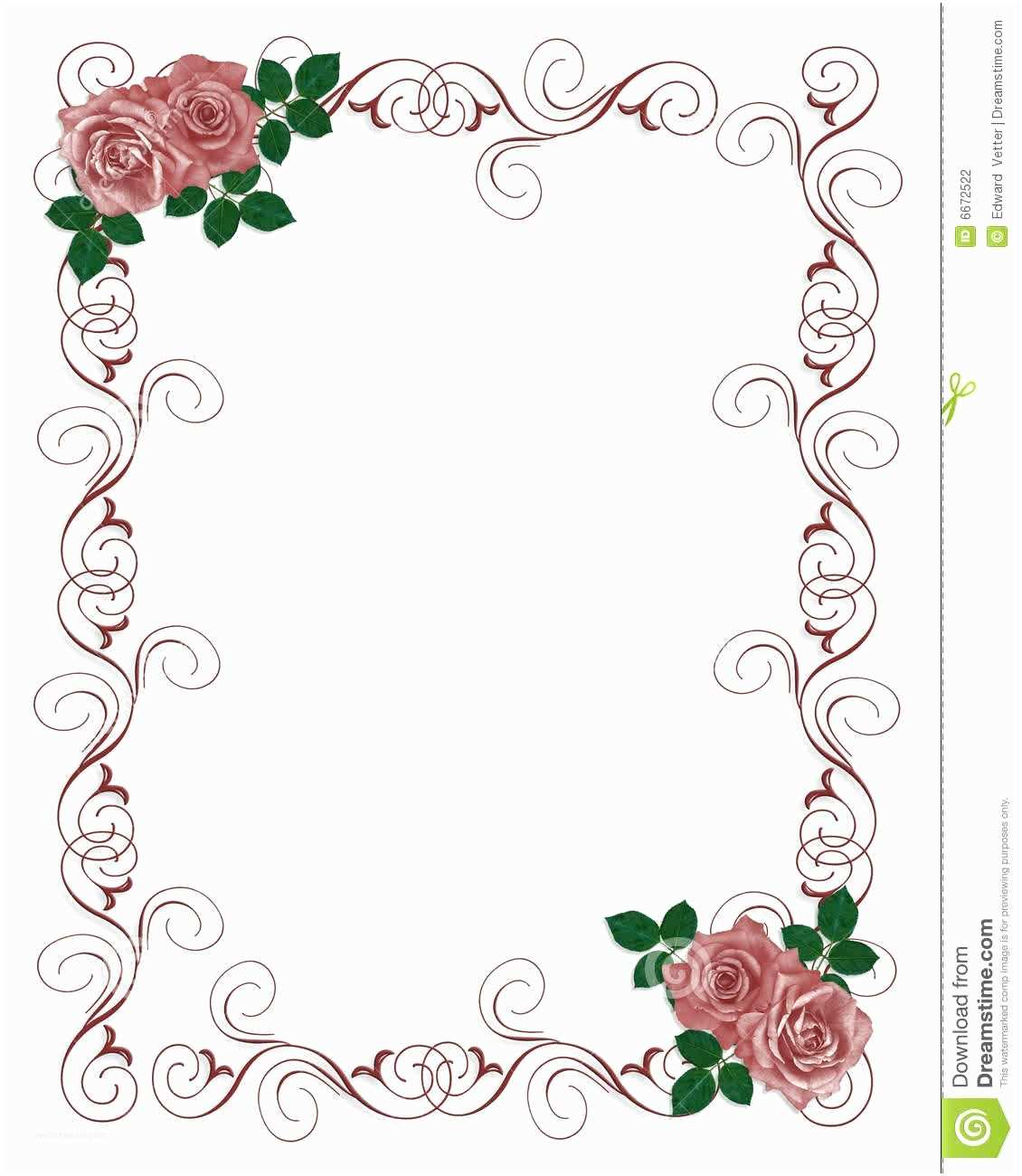 Wedding Invitation with Photo Templates Floral Blank Wedding Invitation Templates
