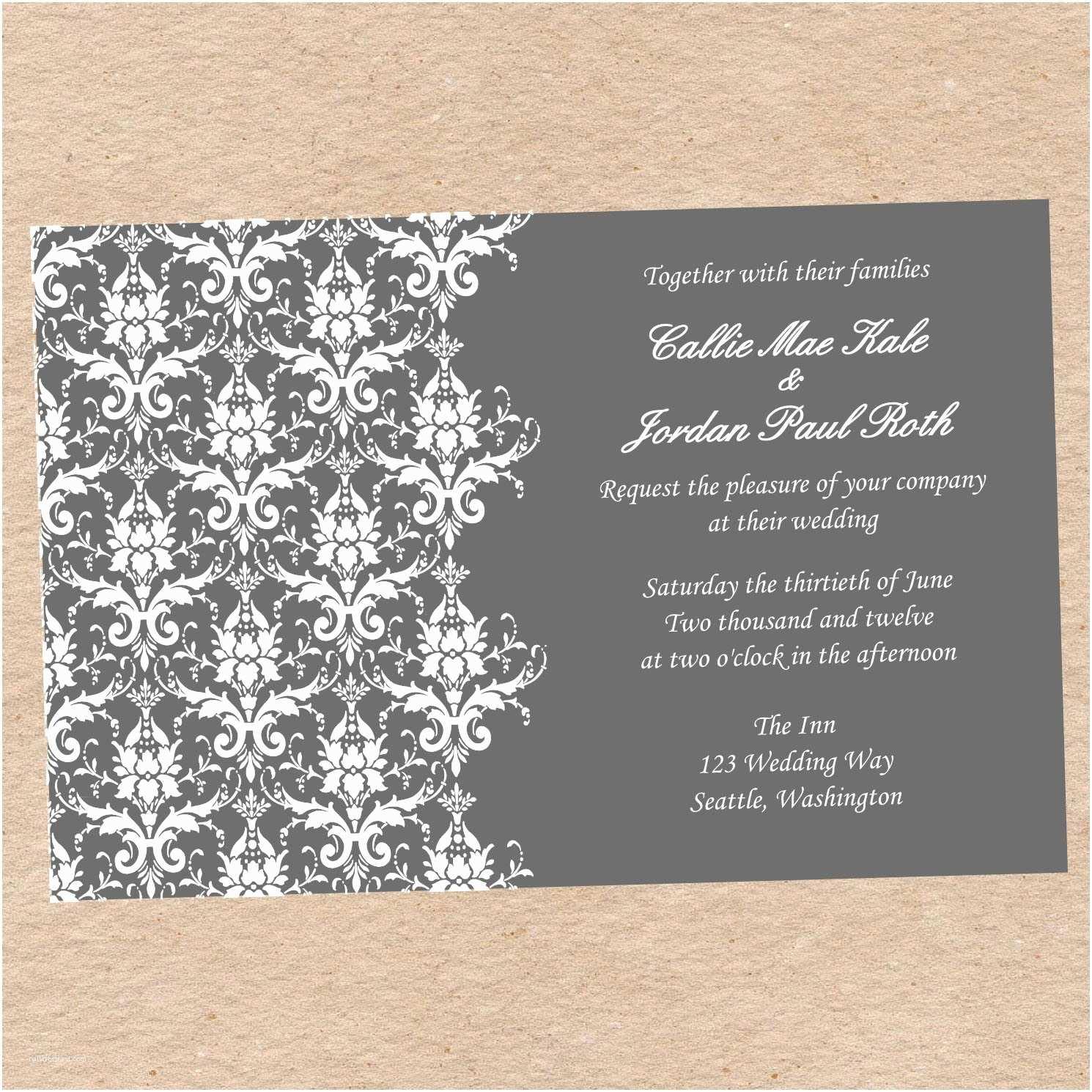Wedding Invitation with Photo Templates Wedding Invitation Wedding Invitations Templates