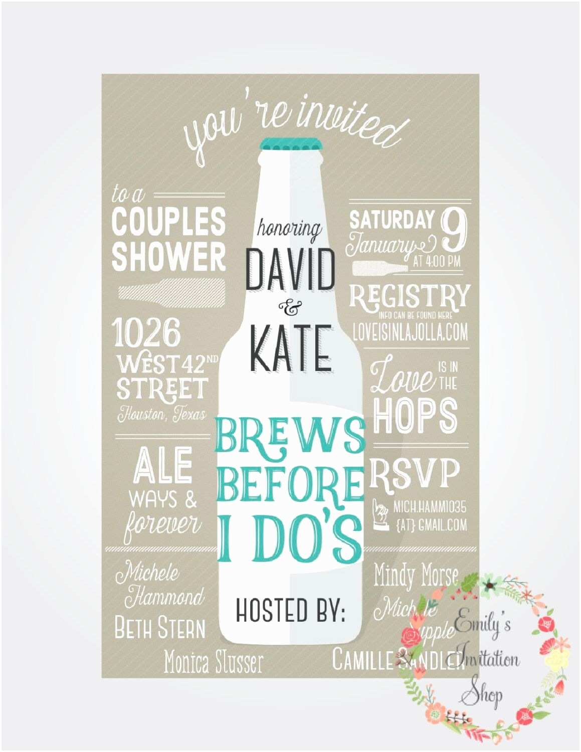 Wedding Invitation with Photos Of Couples Free Brews before I Do S Couples Shower Invitation by