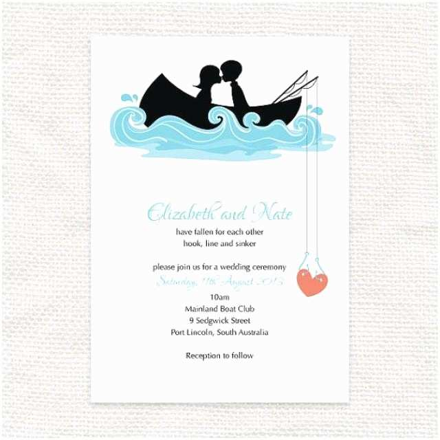 Wedding Invitation with Photos Of Couples Free Hooked You Invitation Printable File Fishing Row