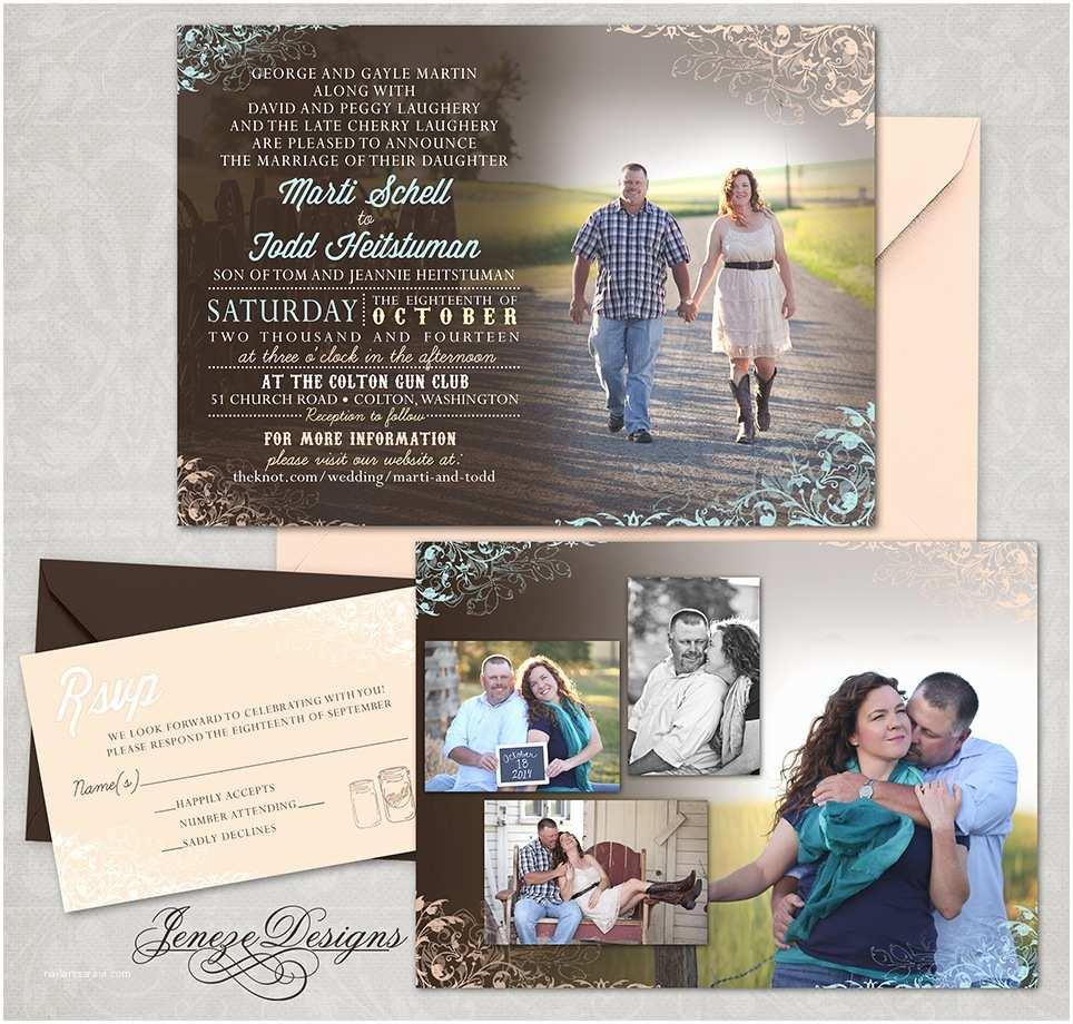 Wedding Invitation with Photos Of Couples Free Romantic