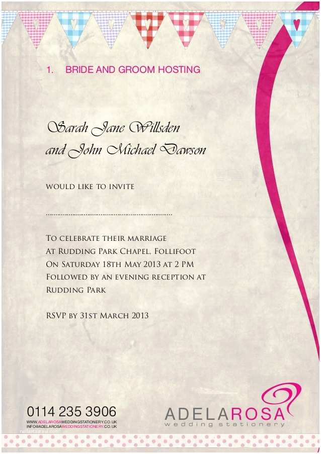 Wedding Invitation Wording Bride and Groom Hosting Beautiful Informal Wedding Invitation Wording Bride and
