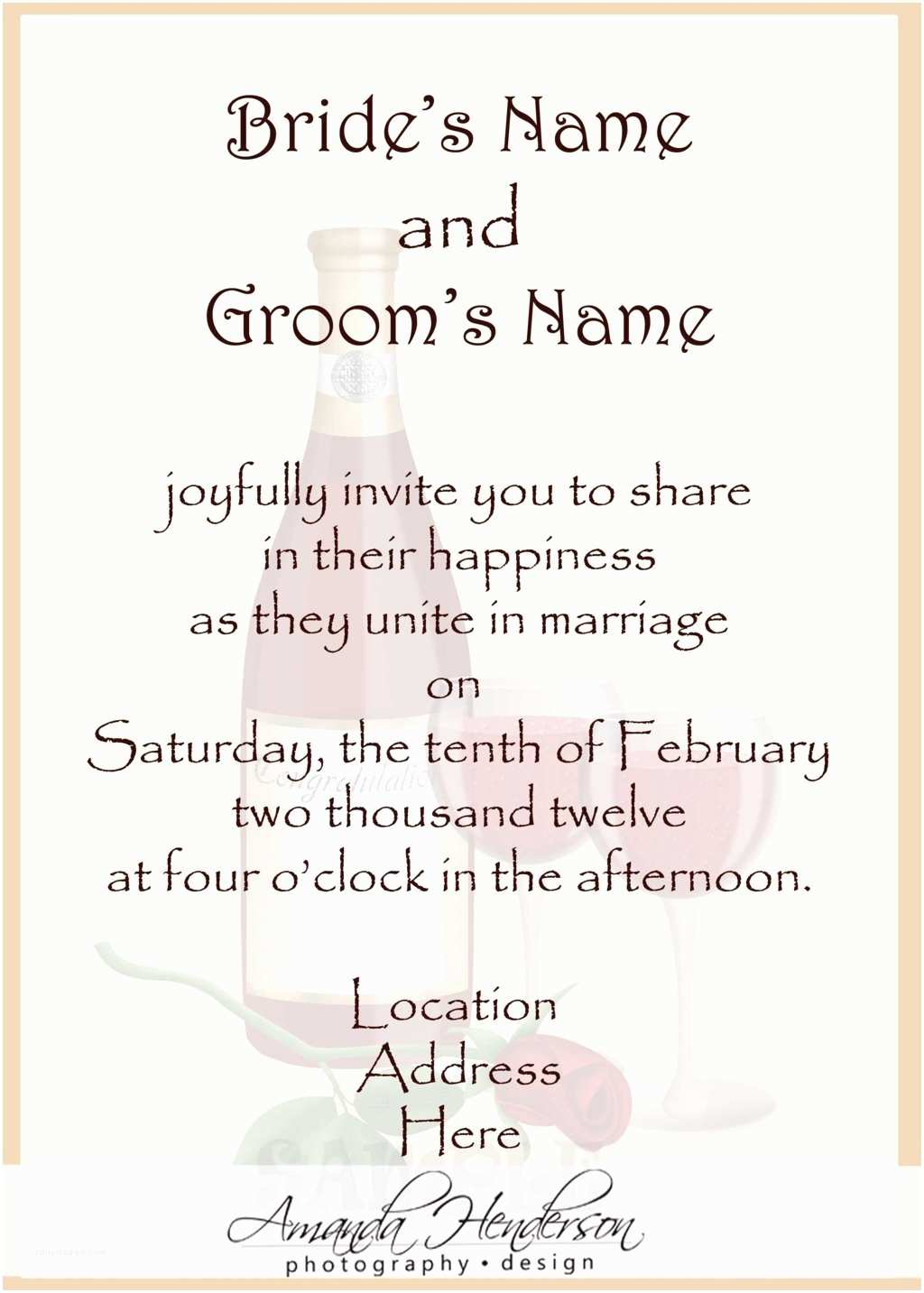 Wedding Invitation Wording Bride and Groom Hosting Wedding Structurewedding Structure