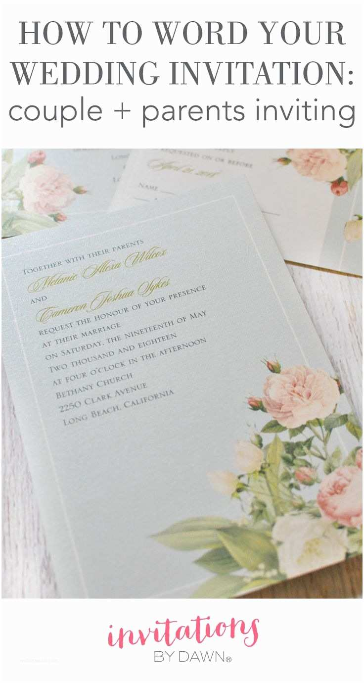 Wedding Invitation Wording Bride's Parents Hosting 267 Best Images About Wedding Help & Tips On Pinterest