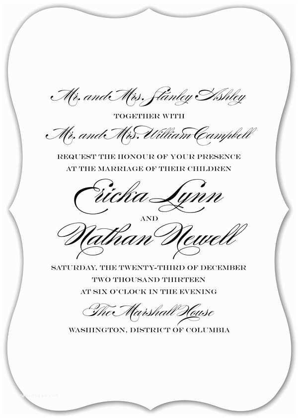 Wedding Invitation Wording Bride's Parents Hosting Wedding Invitation Wording Both Parents