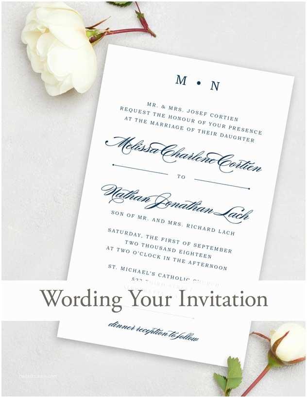 Wedding Invitation Wording Bride's Parents Hosting Wedding Invitation Wording