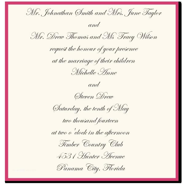 Wedding Invitation Wording Bride's Parents Hosting Wedding Invitations Step Parents Best Divorced