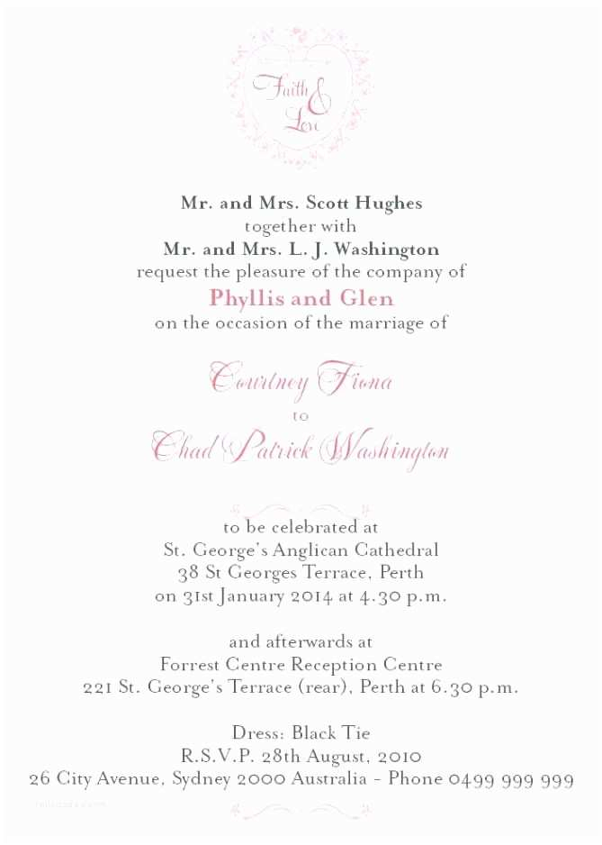 Wedding Invitation Wording Couple Hosting formal Wedding Invitation Wording Couple Hosting