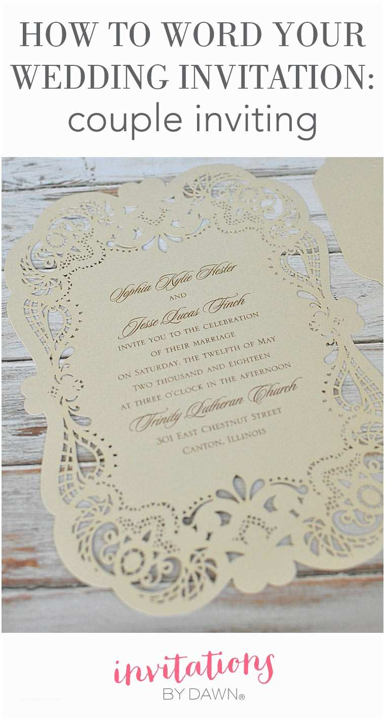 Wedding Invitation Wording Couple Hosting How to Word Your Wedding Invitations – Couple Inviting