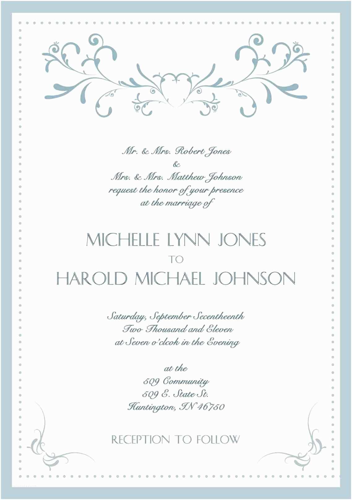 Wedding Invitation Wording Couple Hosting Ideas Wording Wedding Invitation Samples Couple Hosting