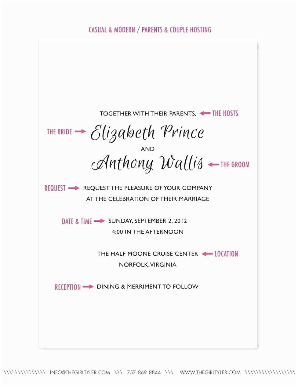 Wedding Invitation Wording Couple Hosting Traditional Wedding Invitation Samples