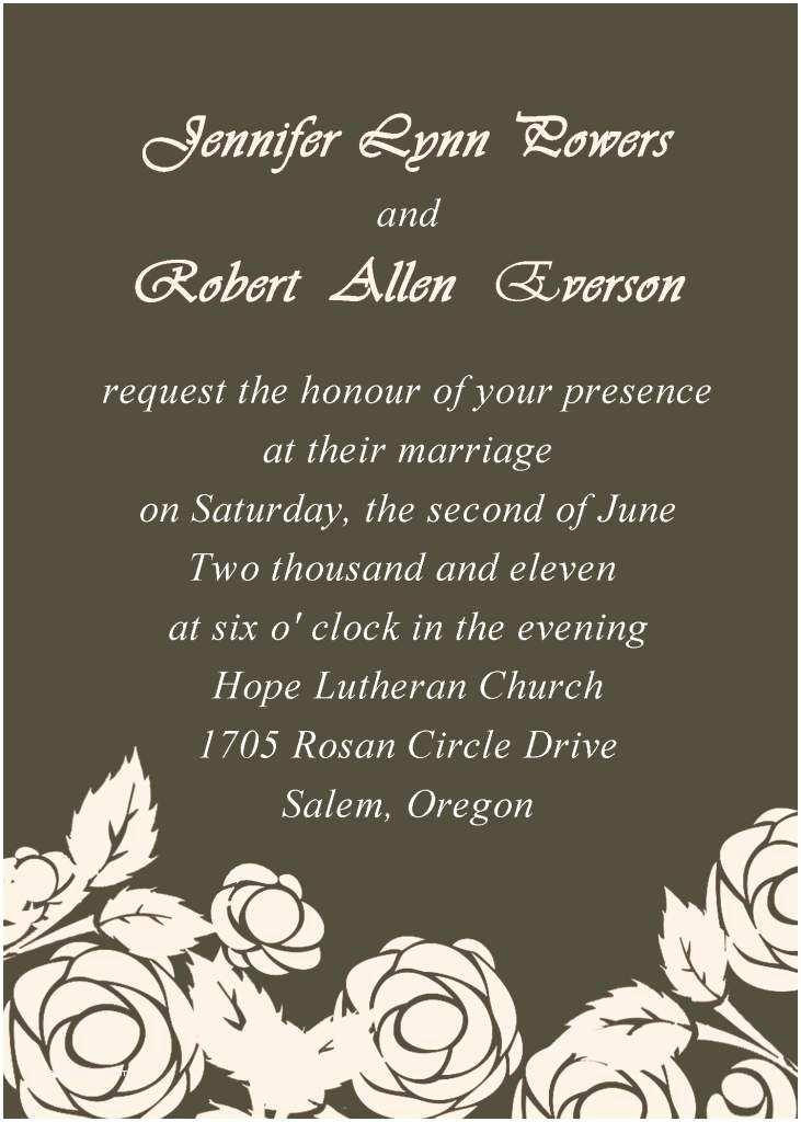 Wedding Invitation Wording Couple Hosting Unique Wedding Invitation Wording