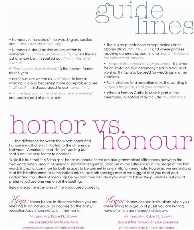 Wedding Invitation Wording Etiquette Etiquette Rules for Wedding Invitations