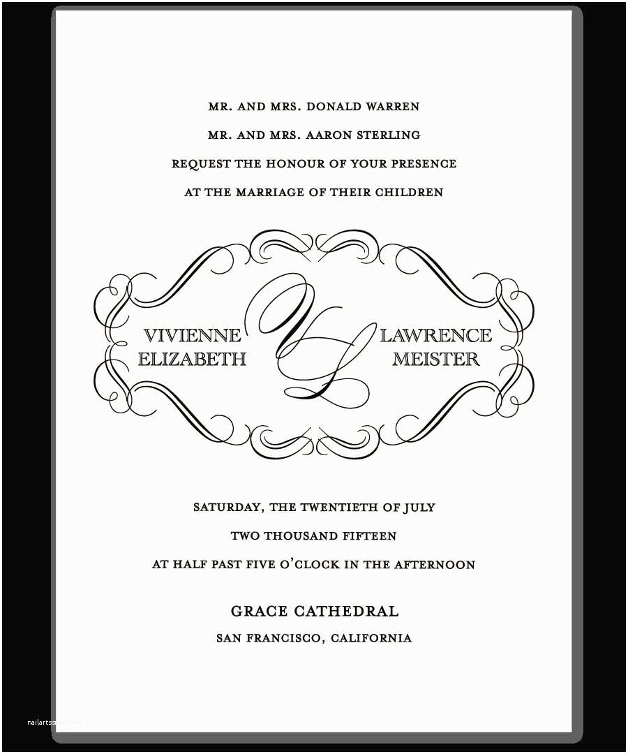 Wedding Invitation Wording Examples Christian Wedding Invitation Wording