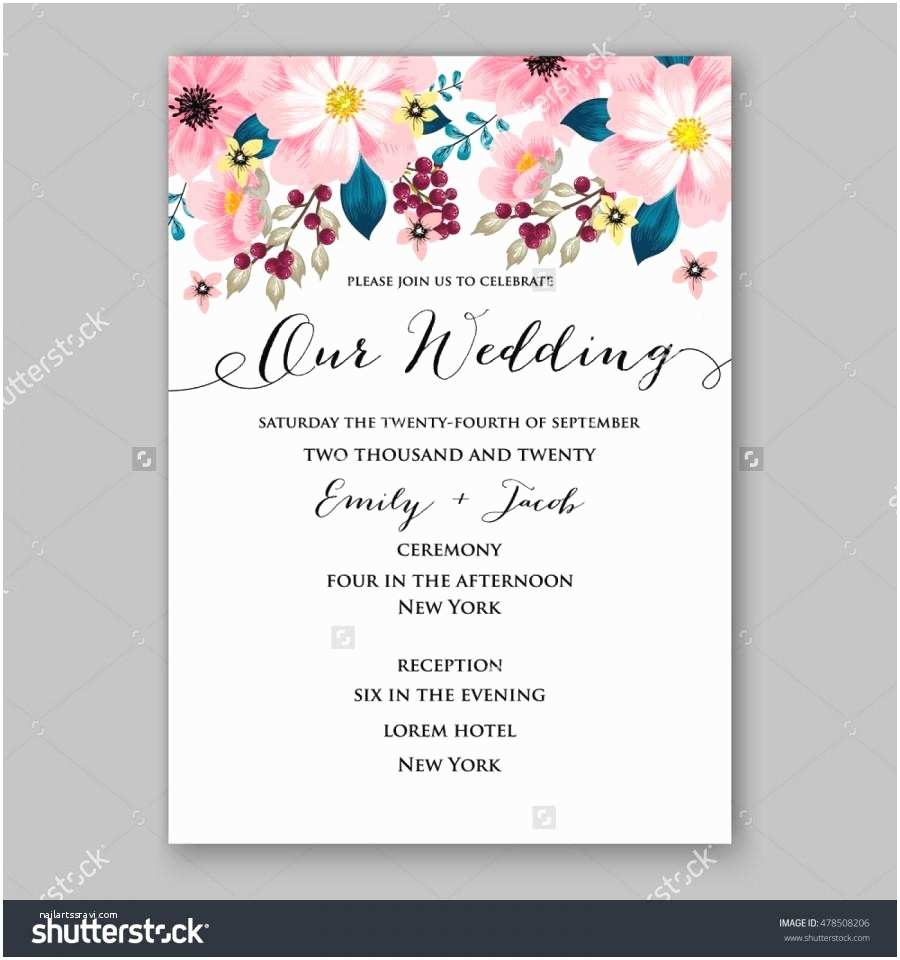 Wedding Invitation Wording Examples Poinsettia Wedding Invitation Sample Card Beautiful Winter